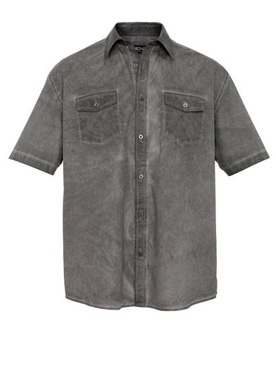 Men Plus By Happy Size Special-belly Cut Shirt Oil Wash