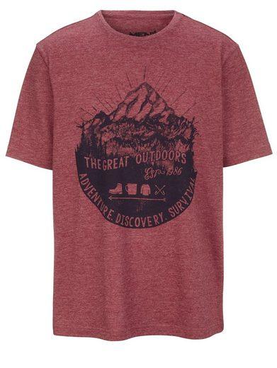 Men Plus by Happy Size T-Shirt mit Berg-Print