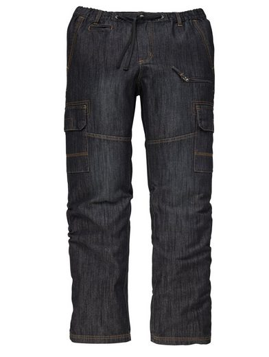Men Plus by Happy Size Jeans mit Cargotaschen