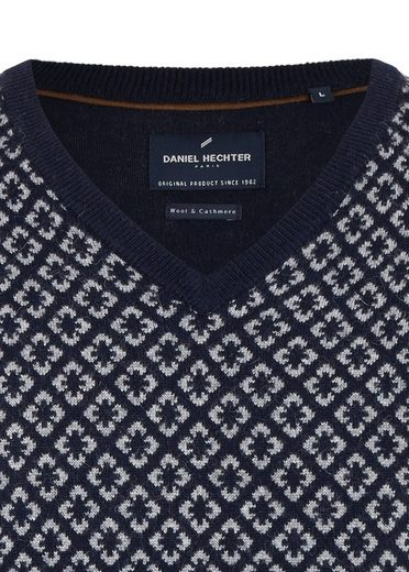 Daniel Hechter Modischer V-Kragen-Pullover