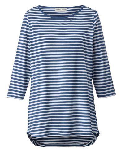 Janet und Joyce by Happy Size Vokuhila-Shirt gestreift