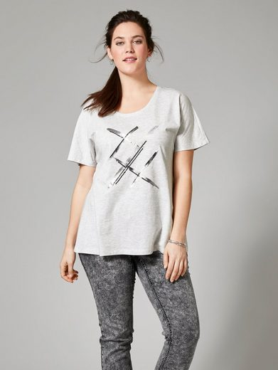 Janet und Joyce by Happy Size Shirt mit Pailletten