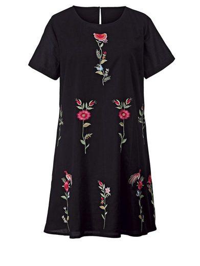 Angel of Style by Happy Size Kleid mit Blumen-Stickerei ...