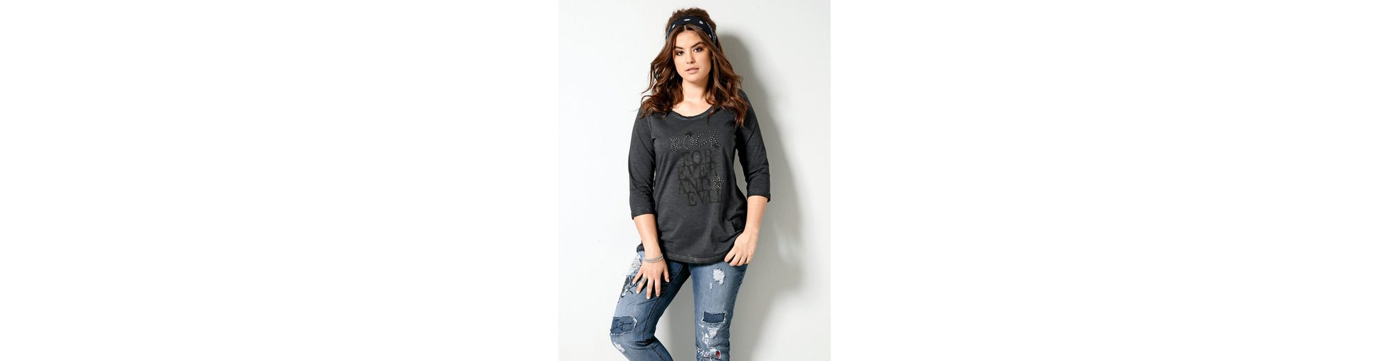 Angel of Style by Happy Size Shirt mit Frontprint Auf Dem Laufenden Günstiger Versand wliGlz