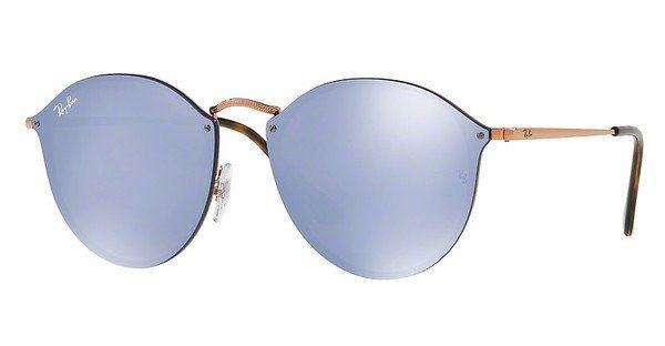 RAY BAN RAY-BAN Damen Sonnenbrille »Blaze Round RB3574N«, rosa, 9035V0 - rosa/rot