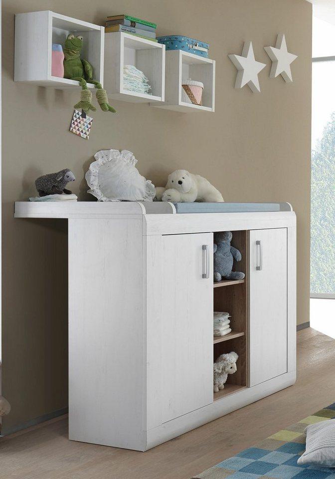 wickelkommode usedom in pinie struktur nb wei eiche nb. Black Bedroom Furniture Sets. Home Design Ideas