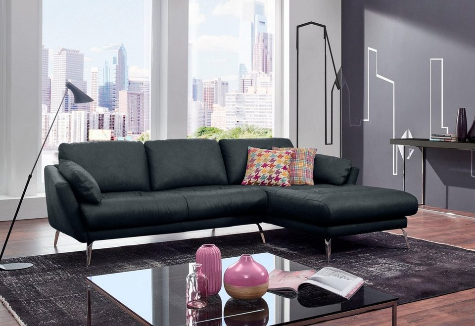 w schillig ecksofa softy mit heftung im sitz otto. Black Bedroom Furniture Sets. Home Design Ideas