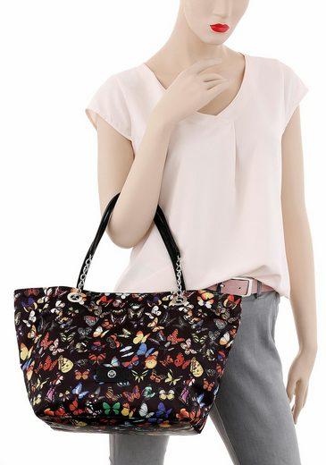 Tom Tailor Shopper MIRI BUTTERFLY, Taschenvolumen erweiterbar