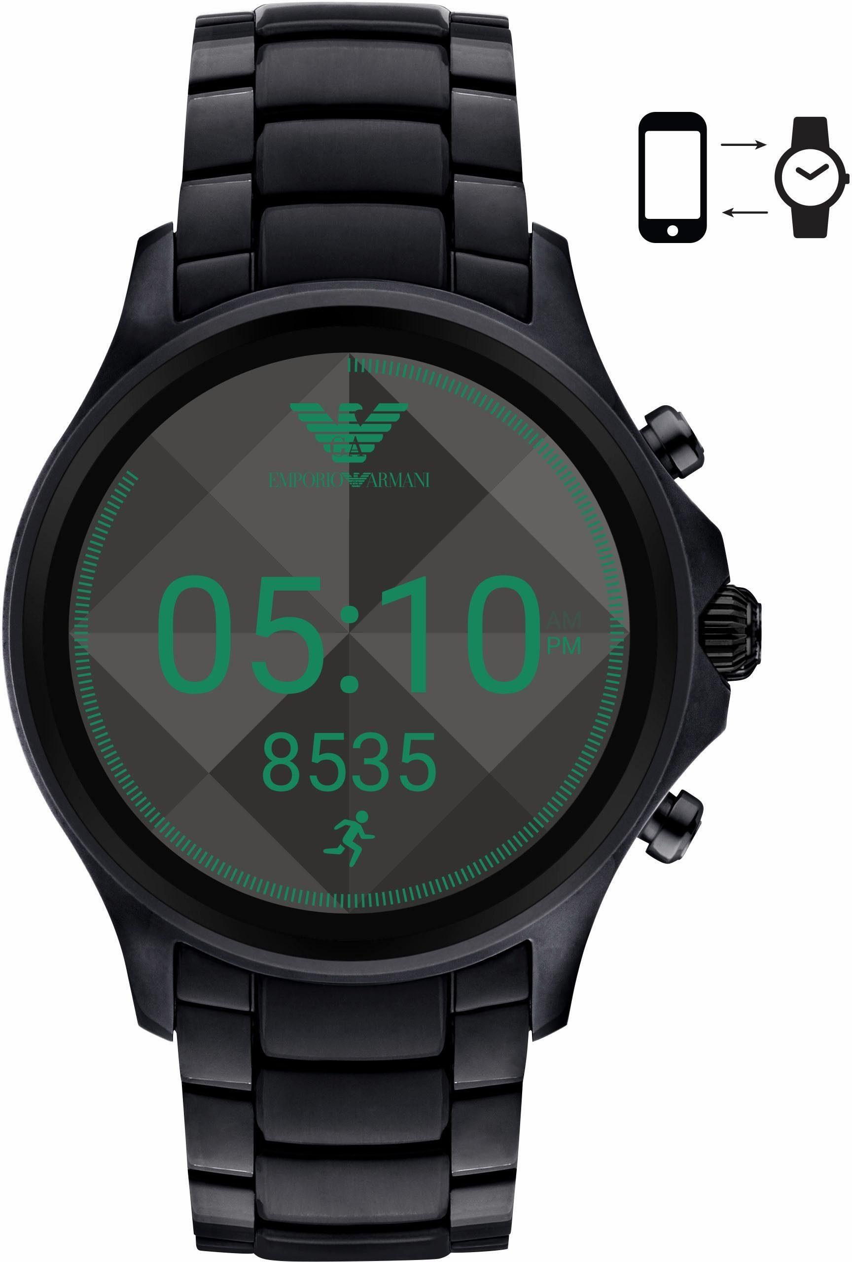 EMPORIO ARMANI CONNECTED ART5002 Smartwatch (Android Wear, mit individuell einstellbarem Zifferblatt)
