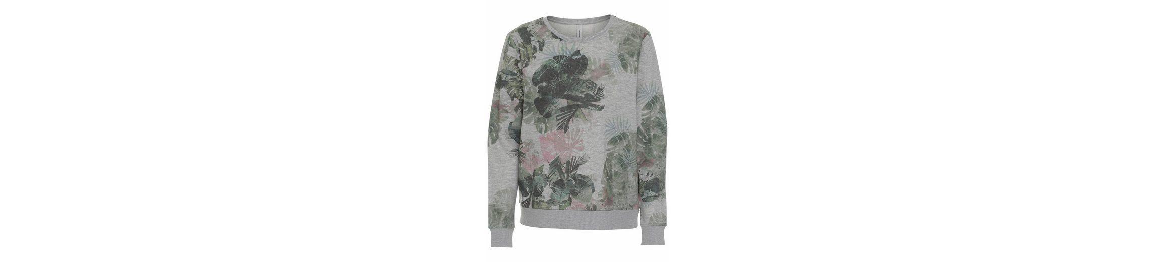 soyaconcept Sweatshirt Osha 4, mit Blätterprint