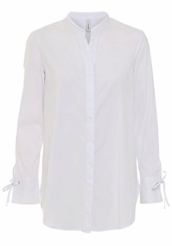 soyaconcept Klassische Bluse »FEMI 2« mit Schnürung an den Manschetten   Bekleidung > Blusen > Klassische Blusen   Weiß   soyaconcept
