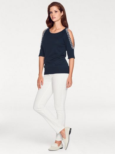 ASHLEY BROOKE by Heine Pullover mit Cut-Outs