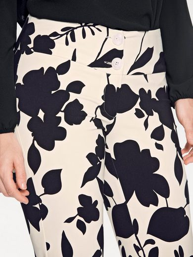 ASHLEY BROOKE by Heine Bodyform-Druckhose mit Blumendessin