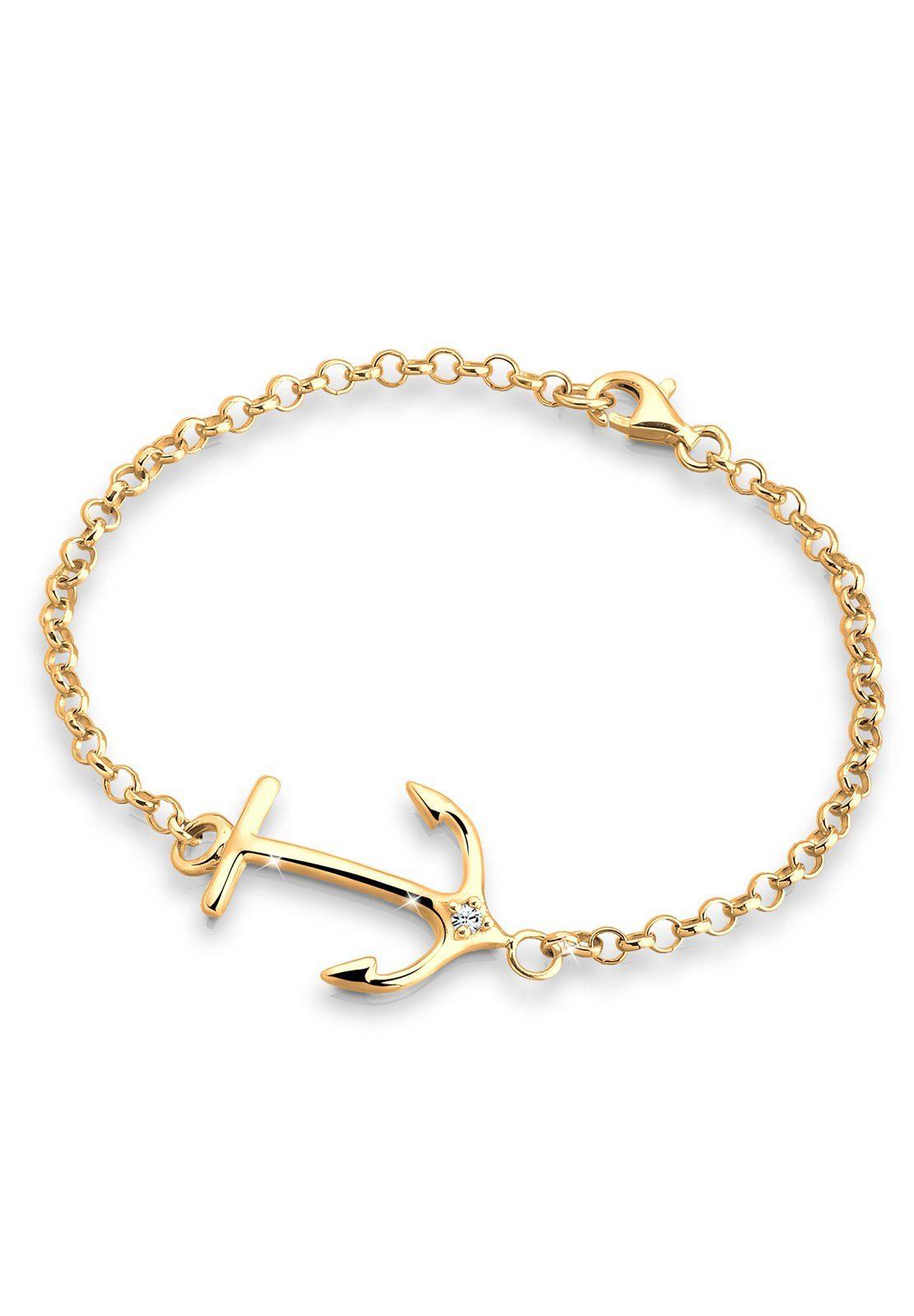 Goldhimmel Armband »Anker Swarovski Kristall 925 Sterling Silber«