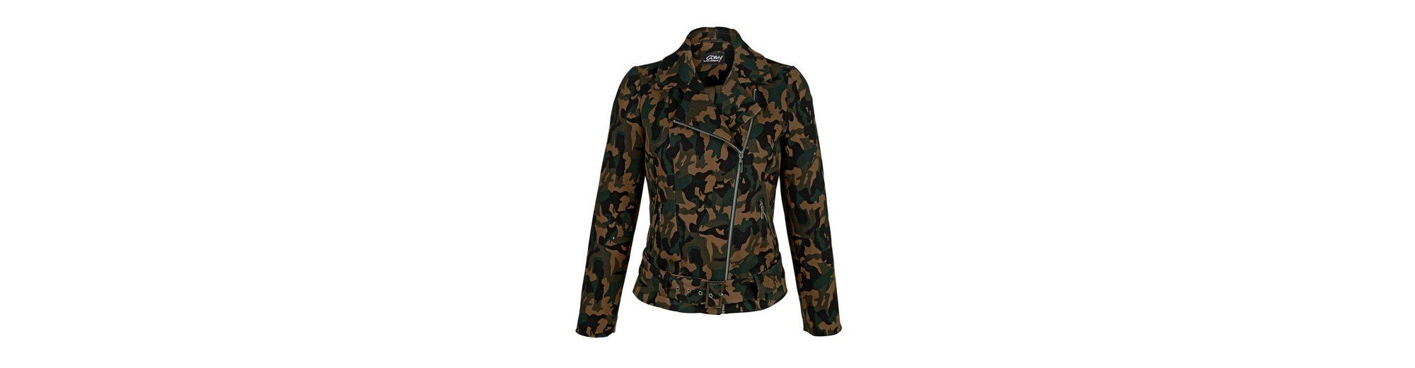 Auslass Original Schlussverkauf Amy Vermont Bikerjacke in Camouflage-Jacquard Verkauf OlTIkJ