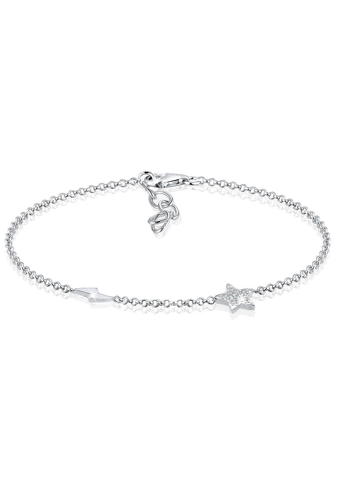 Elli Armband »Blitz Sterne Astro Zirkonia Kristalle 925 Silber«
