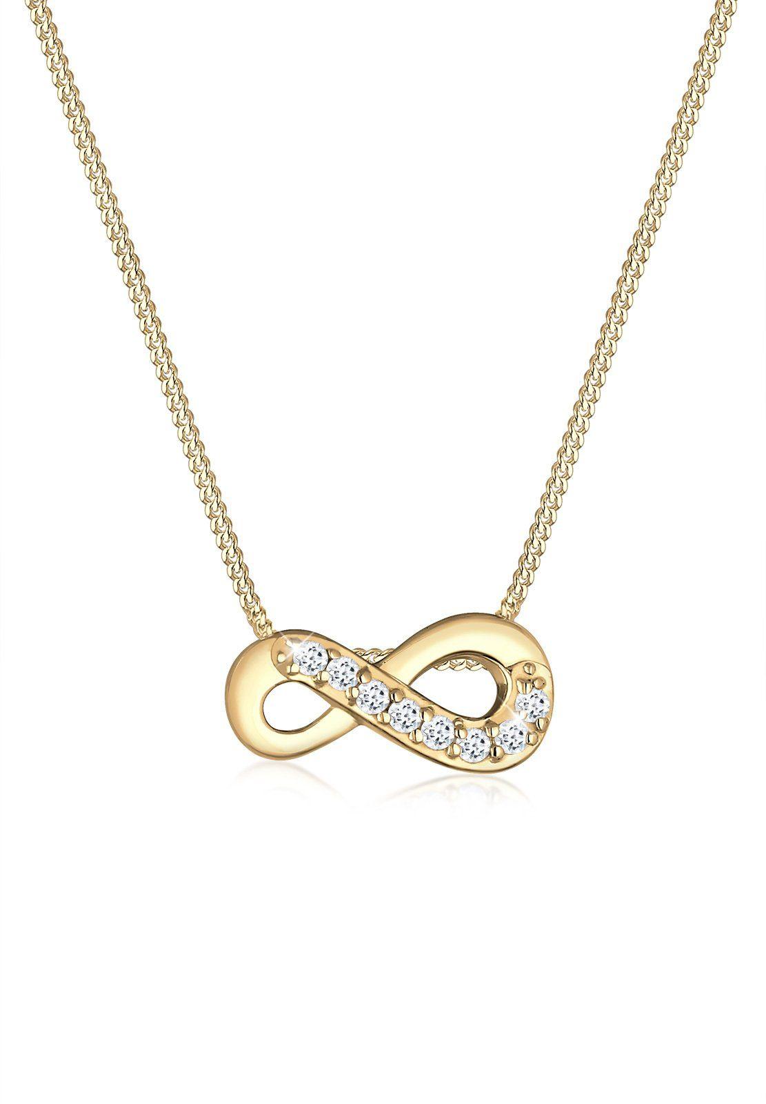 Elli Halskette »Infinity Unendlich Liebe Topas 585 Gelbgold Jolene«