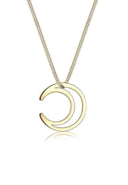 Elli Halskette »Halbmond Astro 925 Sterling Silber«
