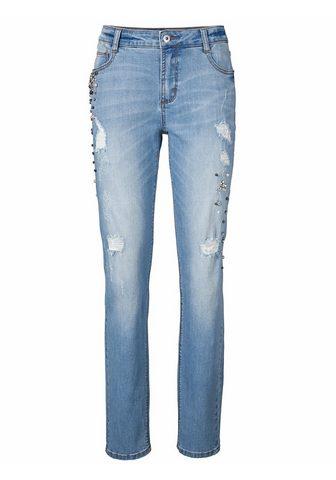 CASUAL джинсы для молодежи с украшение...