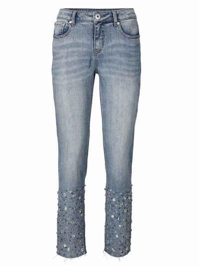 CASUAL Jeans mit Applikationen