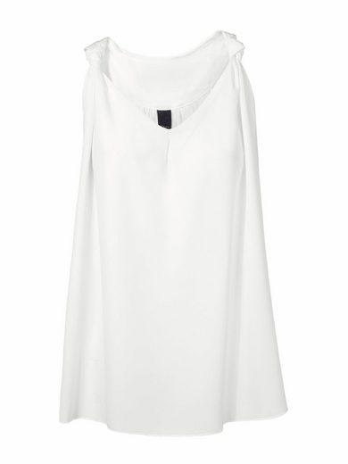 RUBINA STONES Shirttop mit Materialmix