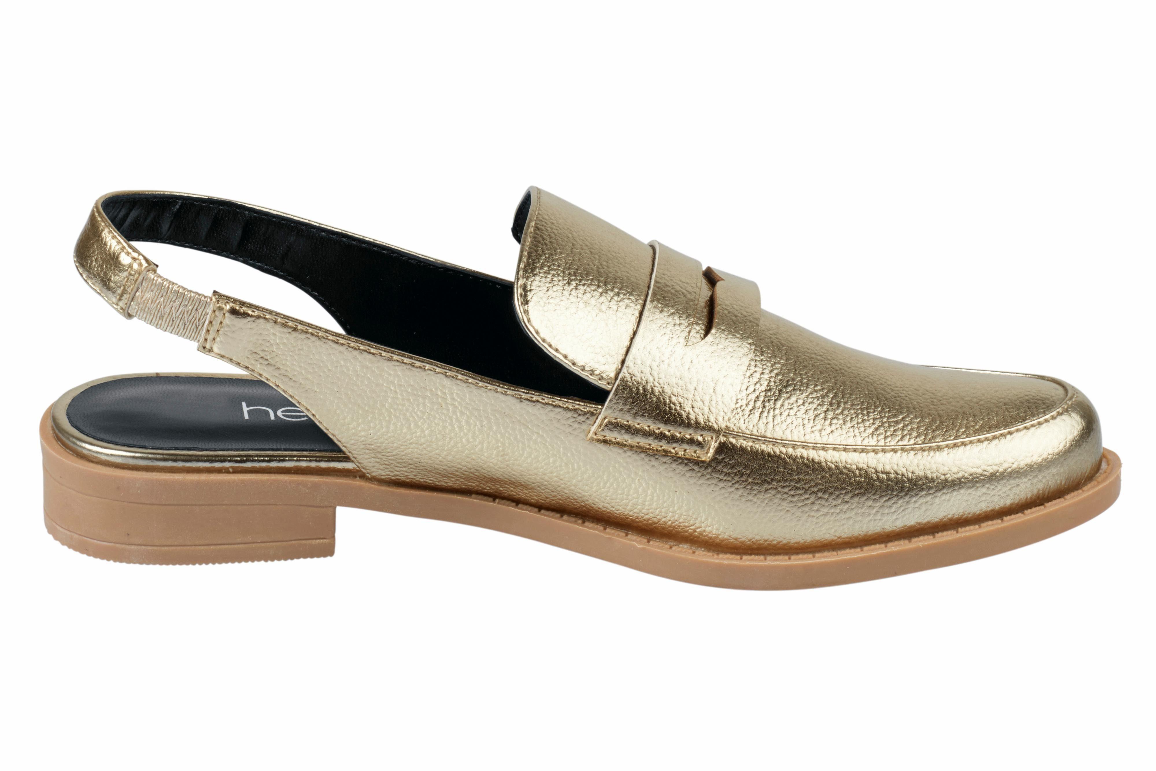 Heine Slipper in Slingform online kaufen  goldfarben