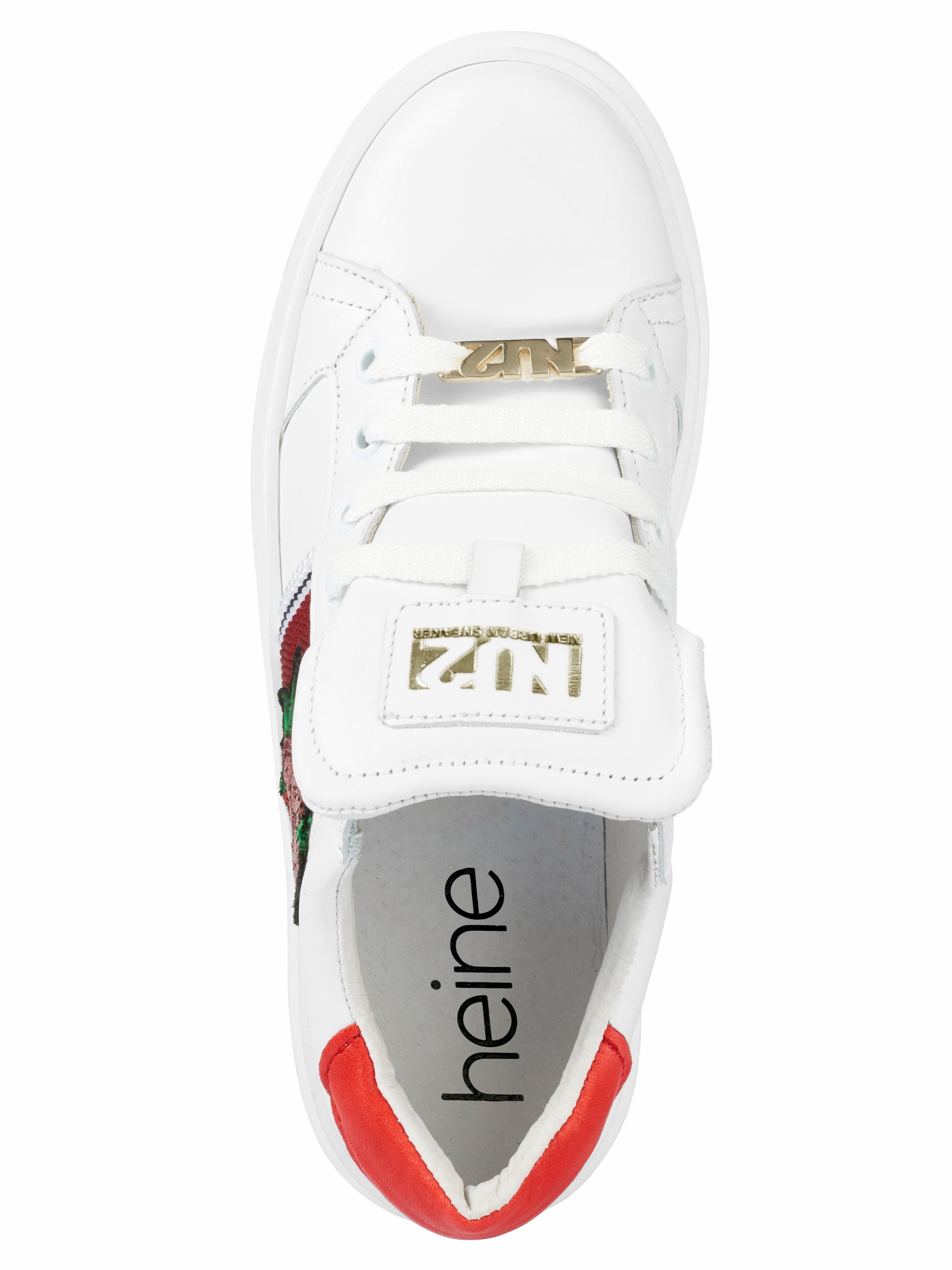 Heine Sneaker mit trendiger Applikation kaufen  weiß