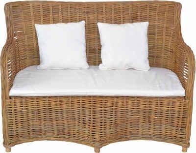 Home affaire Sofa, aus handgeflochtenem Kubu-Rattan und sechs Füßen