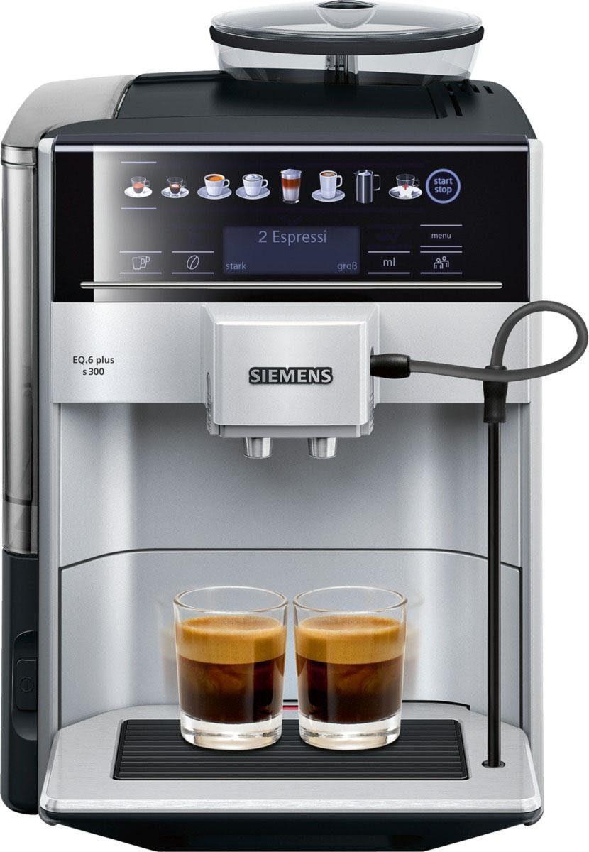 SIEMENS Kaffeevollautomat EQ.6 plus s300 TE653501DE, mit Speichermöglichkeit bis zu 2 personalisierter Getränke
