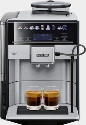Kaffeevollautomat EQ.6 plus s700 TE657503DE, automatische Reinigung, zwei Tassen gleichzeitig, 4 individuelle Profile, beleuchtetes Tassenpodest, Edelstahl