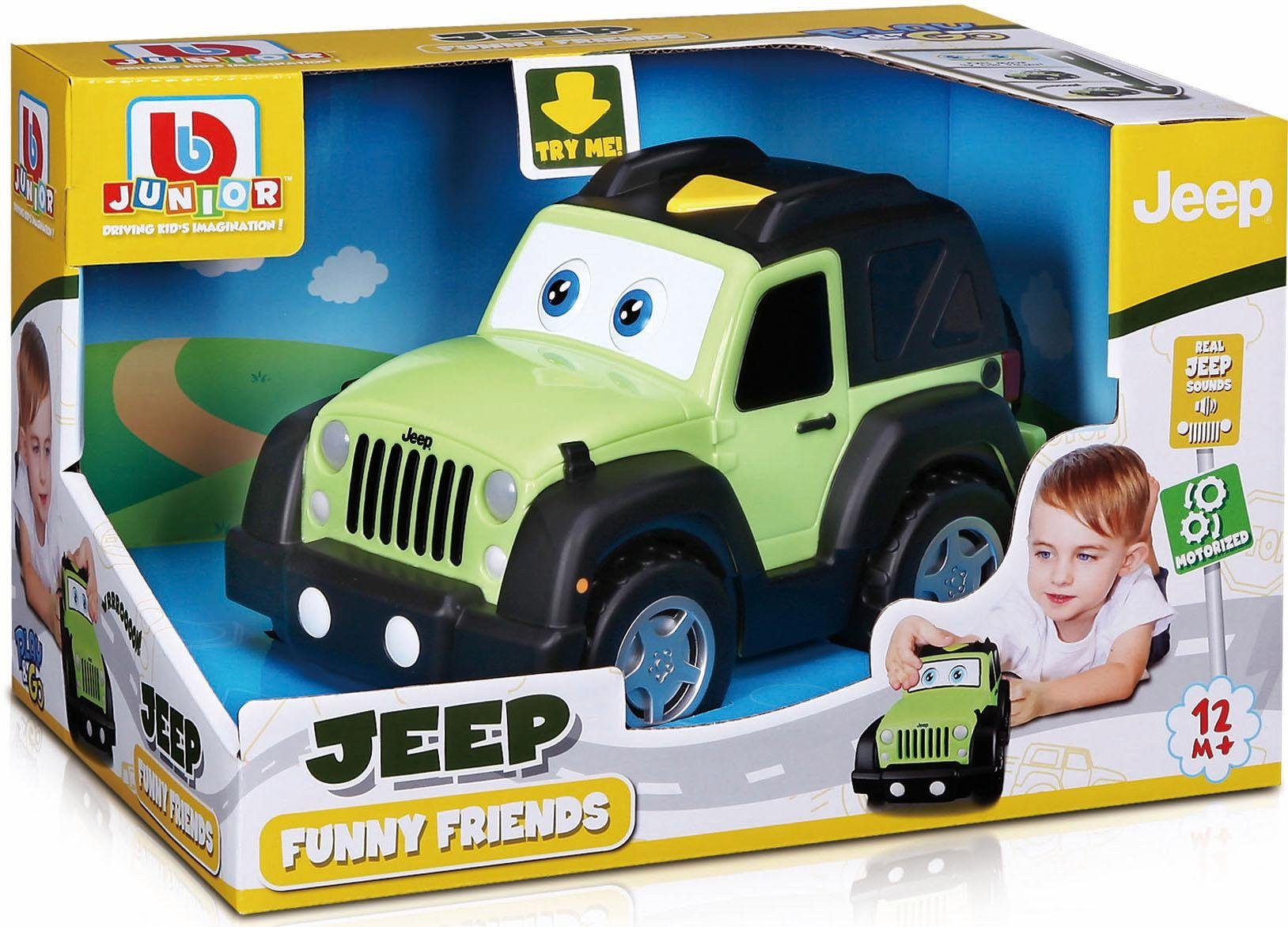 bbJunior Spielzeugauto, »Jeep Funny Friend Jeep Wrangler Unlimited«