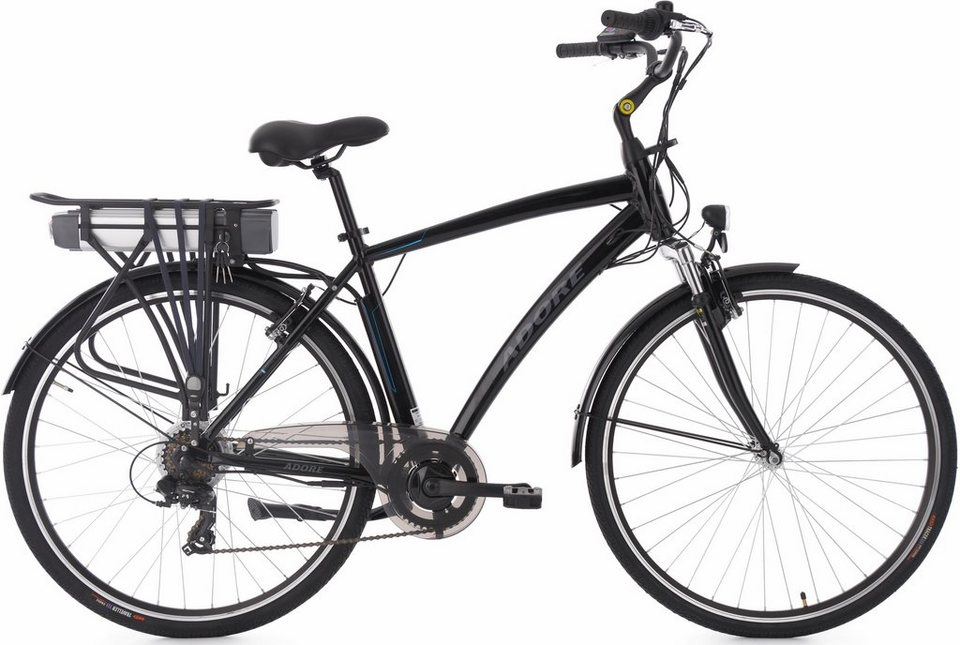 adore herren e bike city 28 zoll 7 g nge 250 watt li ion 36v 10 4 ah schwarz versailles. Black Bedroom Furniture Sets. Home Design Ideas