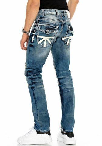 Cipo & Baxx Cipo & Baxx Straight-Jeans aufwendige ...