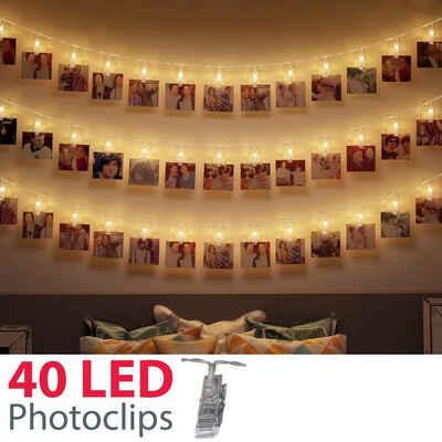 LED Lichterkette 40er Motivlichterkette Weihnachten Beleuchtung Innen Außen Bunt
