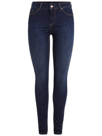 Pieces Kurz geschnittene Slim-Fit- Jeans