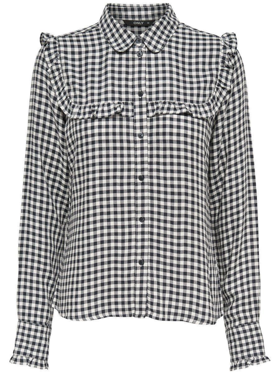 Only Rüschen- Langarmhemd