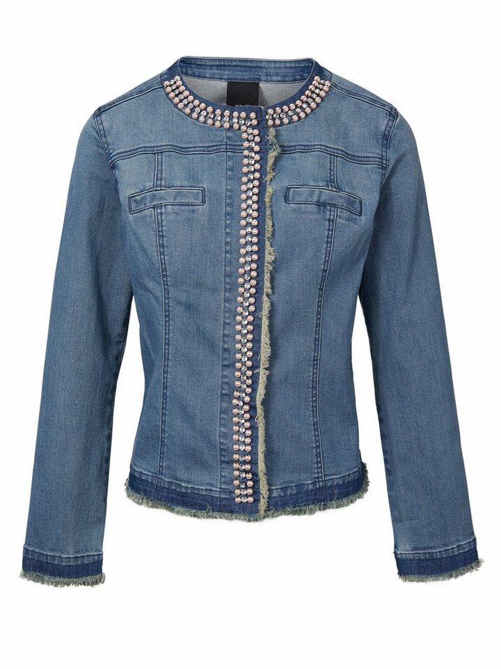 eb0a710753ee9b heine CASUAL Jeansjacke mit Perlen und Strasssteinen online kaufen ...
