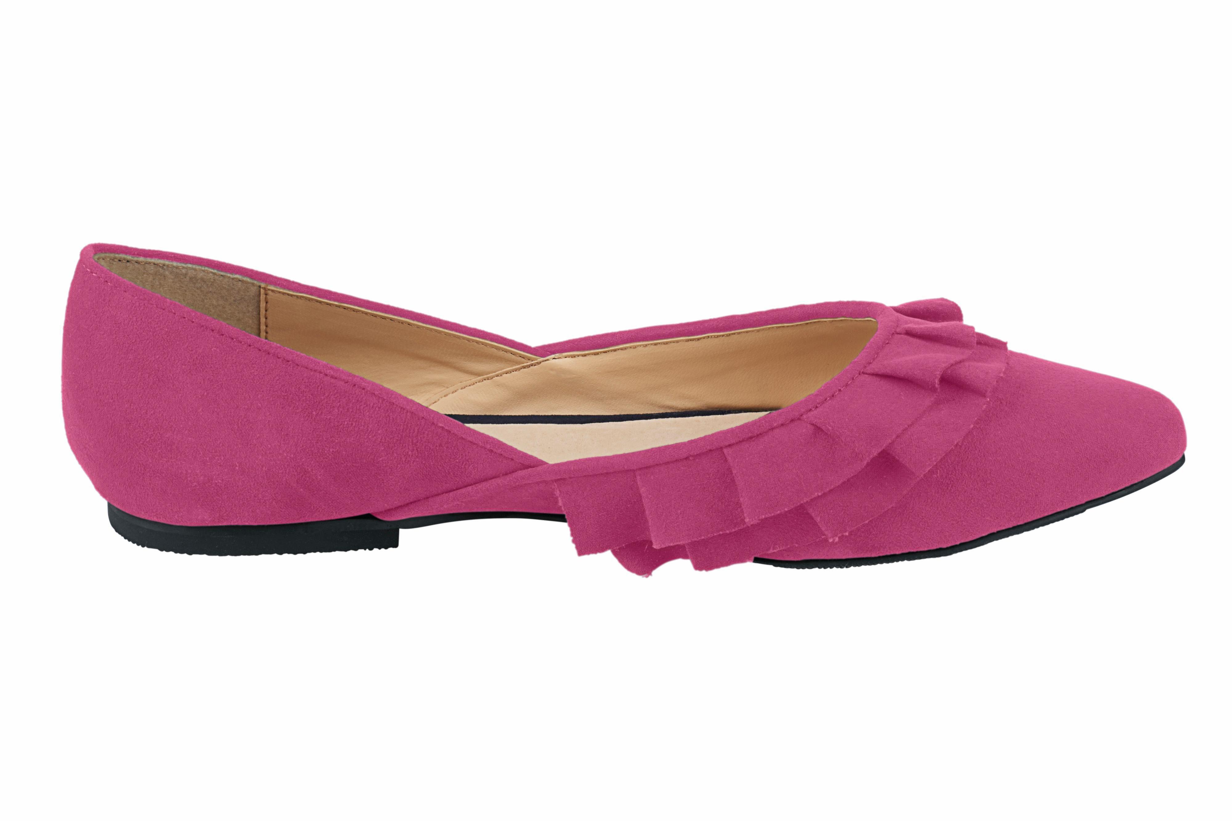 Heine Ballerina mit femininen Rüschen kaufen  pink