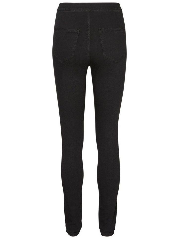 Damen Noisy may Ella HW Super Skinny Fit Jeans schwarz | 05713721820899
