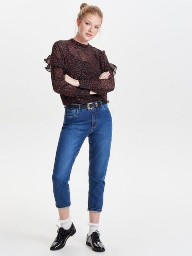 Jacqueline de Yong Rüschen- Oberteil mit langen Ärmeln