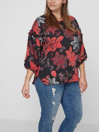 JUNAROSE Blumenprint- Bluse mit 3/4 Ärmeln