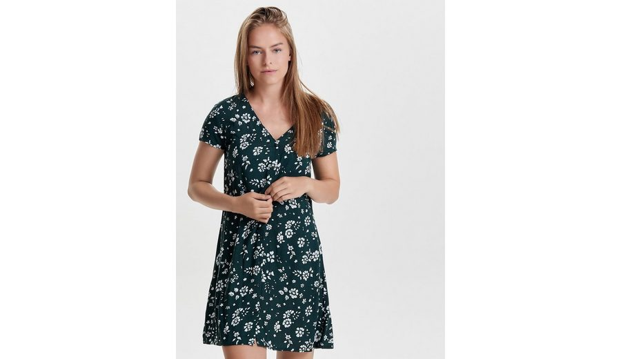 Jacqueline de Yong Detailreiches Kleid mit kurzen Ärmeln 100% Garantiert Spielraum Gut Verkaufen Freiraum Für Billig dLTRf1