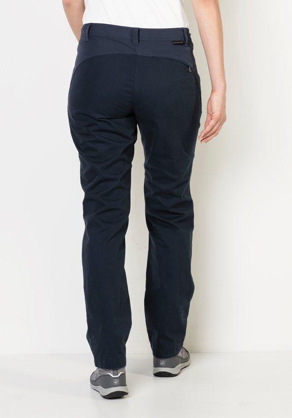 Jack Wolfskin Outdoorhose »DRAKE FLEX PANTS WOMEN«   Bekleidung > Hosen > Outdoorhosen   Blau   Baumwolle - Polyamid   Jack Wolfskin