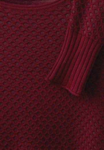 CECIL Pullover mit Wabenstruktur