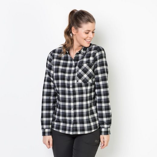 Jack Wolfskin Flanellbluse BOW RIVER SHIRT