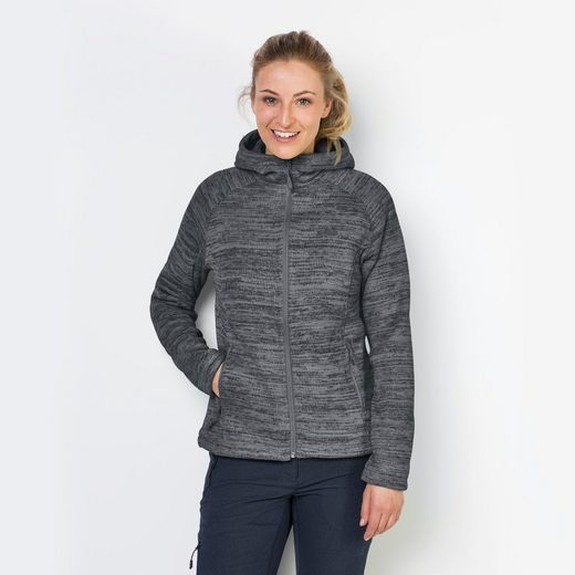 Jack Wolfskin Fleecejacke AQUILA HOODED JACKET WOMEN