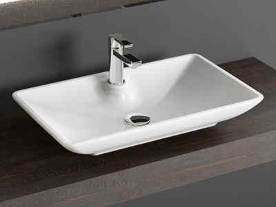 Aqua Bagno Aufsatzwaschbecken »Design Keramik Aufsatzwaschbecken Waschschale« (Packung)