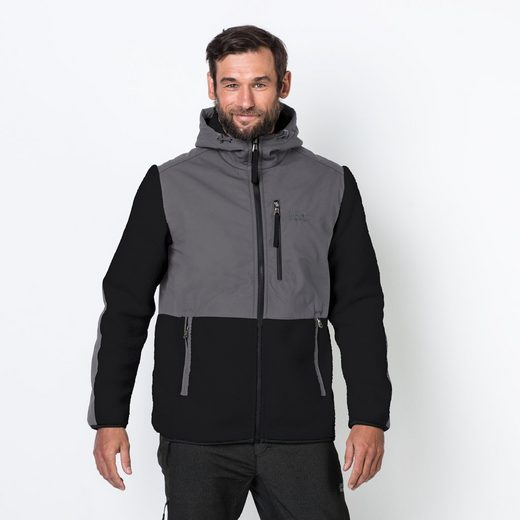 Jack Wolfskin Fleecejacke DAWSON HOODED JACKET MEN
