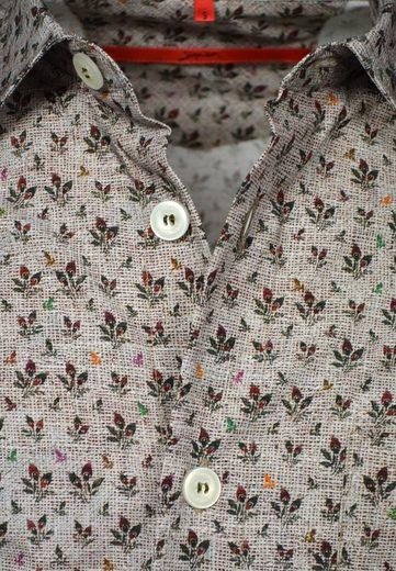 Signum Baumwollhemd mit italienischem Druckmotiv