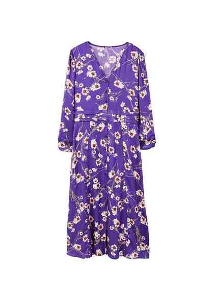 MANGO Kleid mit Blumendesign